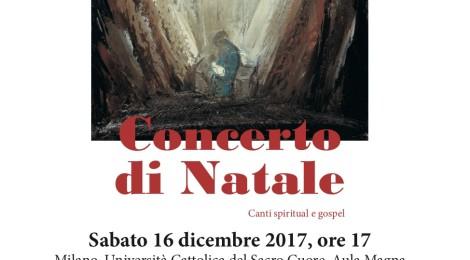 16 dicembre 2017, ore 17.00Milano, Università Cattolica del Sacro CuoreCONCERTO DI NATALE Ensemble Vocale Ambrosiano – I Musici Cantori di Milano
