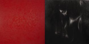 7 Omar Galliani, Rosso cadmio per Caravaggio, 2017